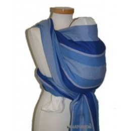 Echarpe de portage Eric coton bio bleu