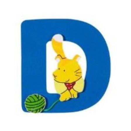 Lettre D en bois goki