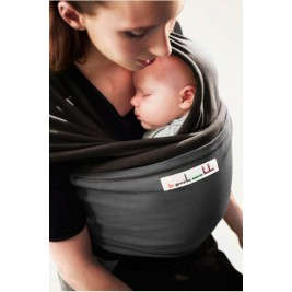 The original JPMBB Baby Wrap Black Koffee, pocket Charcoal Black