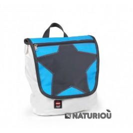 Satchel blue star bag canvas 360°