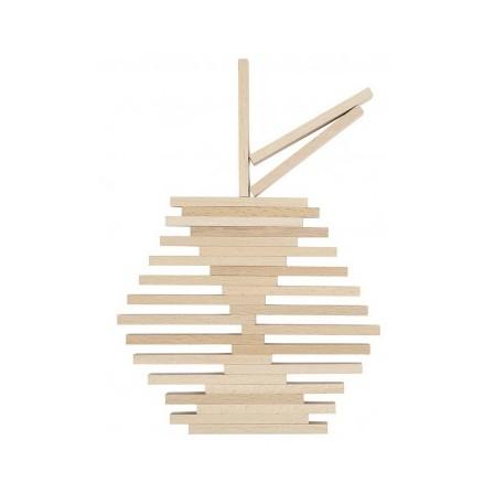 Jeu de construction en planchette bois type kapla