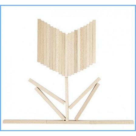 Jeu de construction 200 planchettes bois type kapla par goki