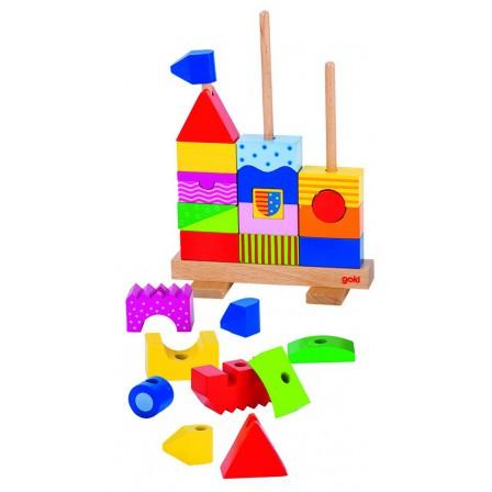 Chateau Goki à empiler jouet en bois