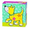 Puzzle de cubes, les amis de Susibelle par Goki chien