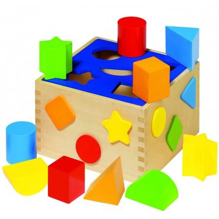 Boîte à formes en bois Goki