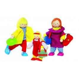 Famille en vacances, poupées articulées Goki