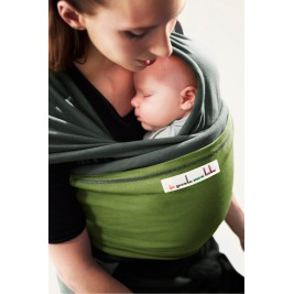 The original JPMBB Baby Wrap Grey-green, pocket Pistachio