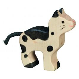 Petit chat tacheté en bois Holztiger