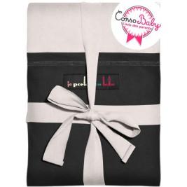 The original JPMBB Baby Wrap Ecru, pocket Black