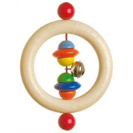 Ring in wood with beads and bells Heimess