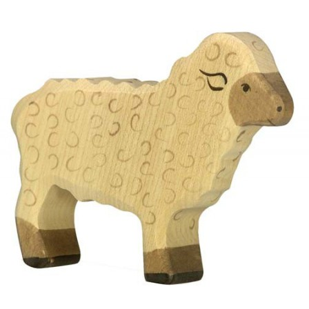 Mouton blanc en bois Holztiger