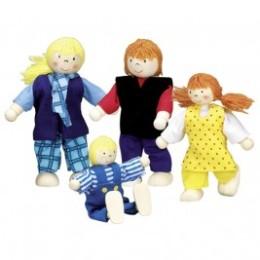 Famille moderne, poupées articulées Goki