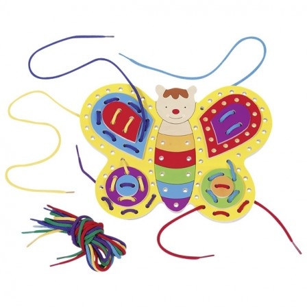 Butterfly lace up wooden Goki