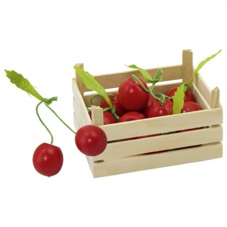 Cagette de cerises en bois Goki