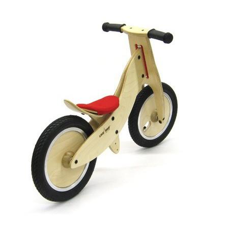 LIKEaBIKE mini roues en bois selle rouge