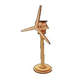 Mini éolienne solaire en bois écologique